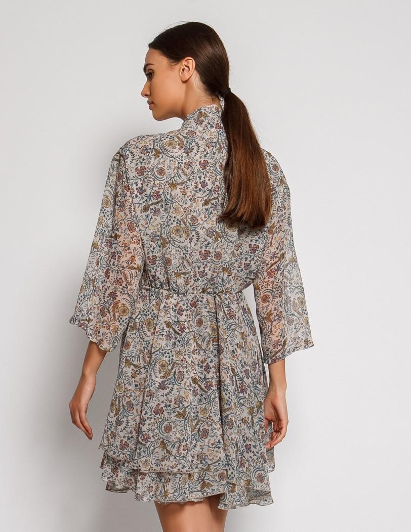 Print grey dress