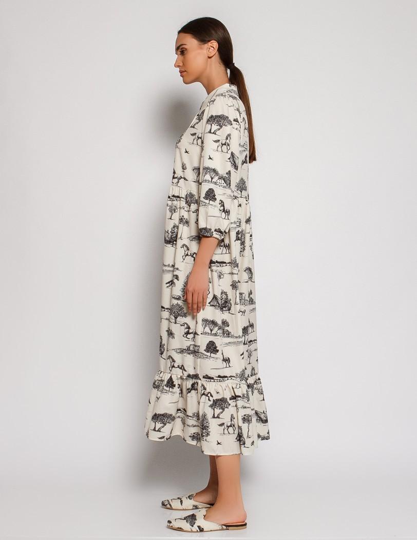 Printed horse dress