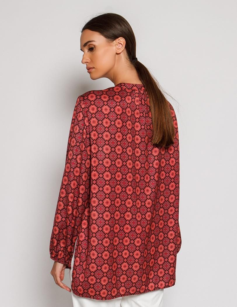 Red print shirt