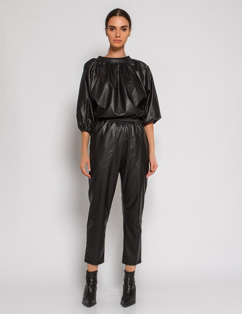 Black pants eco leather